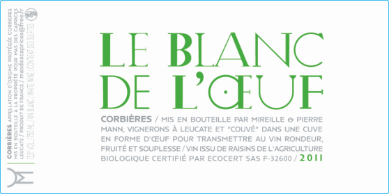 label blanc de l'œuf 2011 of mas des caprices