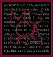 label muscat de noël, muscat de rivesaltes of mas des caprices
