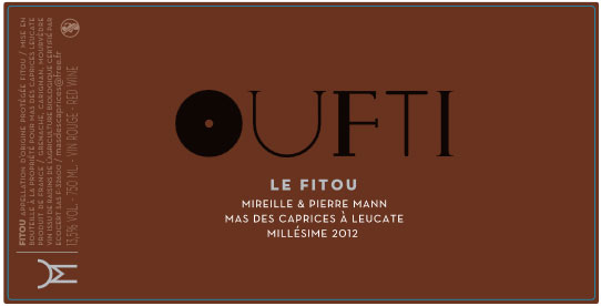 label Oufti 2012 of mas des caprices