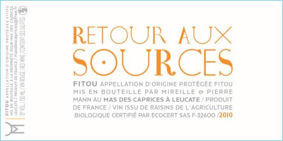 label Retour aux sources of mas des caprices